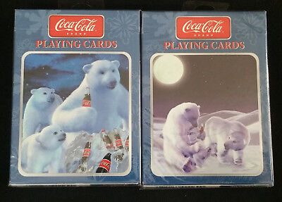 2 DECKS Set Coca Cola Polar Bear Playing Cards by Bicycle New & Sealed