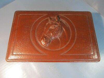 Horse Head Design Dresser / Jewelry / Trinket Box Equestrian