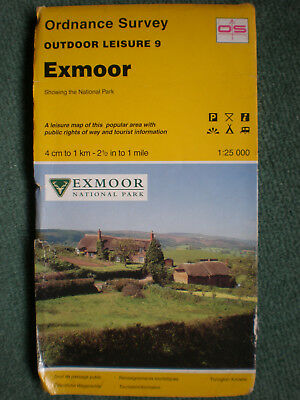 9 Exmoor  Outdoor Leisure Ol Explorer, Ordnance Survey Map, Os, 1:25000