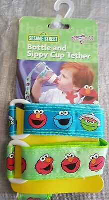 No Throw Sesame Street Bottle & Sippy Cup Tether Holder New - 2 Pack (R08)