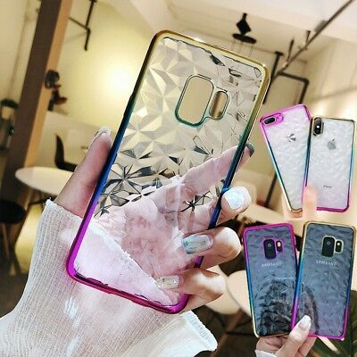 Crystal Bling Glitter Silicone TPU Clear Soft Case Cover For Samsung Note9 S8 S9