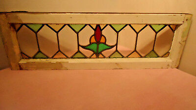 old  antique stained glass window