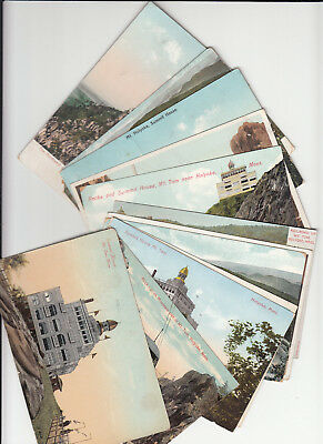 Lot of 12 Vintage Era Postcards Mt. Tom Holoyoke Massachusetts Railway Summit MA