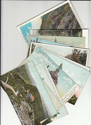 Lot of 12 Vintage Era Postcards Mt. Tom Holoyoke Massachusetts Railway Summit RR