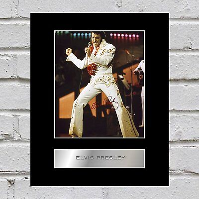 Elvis Presley Signed Mounted Photo Display #1