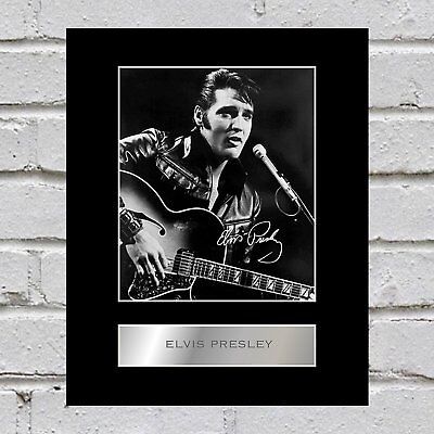 Elvis Presley Signed Mounted Photo Display #4