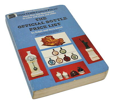 The Official Bottle Price List by Ralph and Terry Kovel Rev 2nd Ed 1975 Illustra