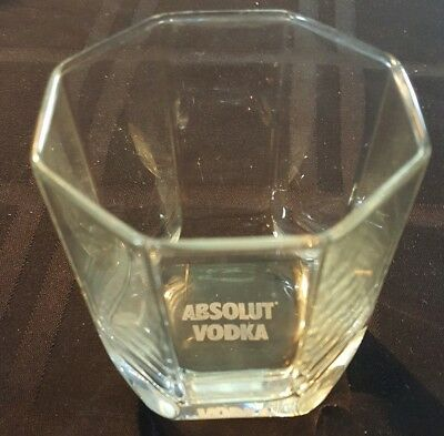 "Absolut Vodka Rocks Tumbler Glass  3.25""   Multiples Available"