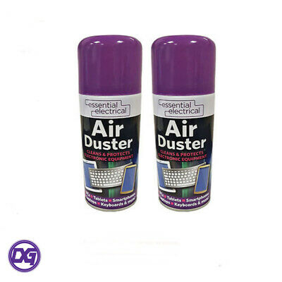 2 x 400ml Compressed Air Duster Spray for Laptops, Computers. Cleans & Protects