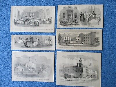 1884 Civil War Prints - Hospital's & Medical Care for Soldier's, New York....