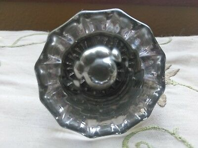 Vintage / Antique Clear Glass Door Knob Doorknob
