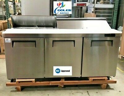 """NEW 72"""" Commercial Refrigerator Model TFP72 Sandwich Salad Pizza Prep Table NSF"""