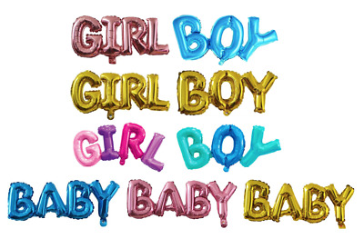 Baby Boy Baby Girl Foil Balloon Baby Shower New Arrival Party Reveal Gender