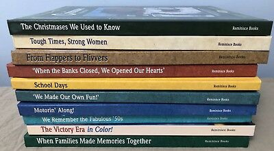 Reminisce Books Lot of ten vintage stories history 20s 30s 40s 50s War Time