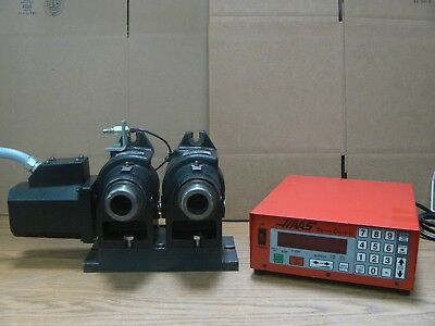 Haas Dual Ha5C 17 Pin Rotary Indexer  W / Air Closer & Servo Controller Ha5C2
