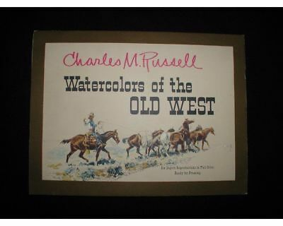 "Charles M.Russell~Watercolors of the Old West 6 Print Set~Portfolio,1958~16""x 12"