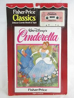 Vintage Fisher Price Classics Deluxe Comic Book & Tape Disney CINDERELLA  Sealed