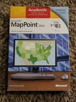 Microsoft MapPoint 2010  - Academic Full Version for Windows  - New