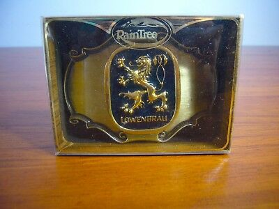 Raintree VINTAGE 1980 **LOWENBRAU** STANDING LION LOGO BEER BELT BUCKLE NEW