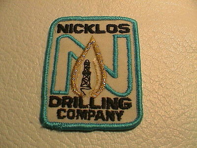 Nicklos Oil Drilling Company Rig Refinery Gas Gasoline Petroleum Auto Patch Used