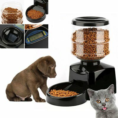 Automatic Pet Feeder Dog Cat Programmable Animal Food Bowl Timed Dispenser AS