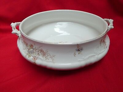 """Antique T & R Boote Waterloo Potteries Serving Bowl/Tureen """"Florence"""" Pattern"""