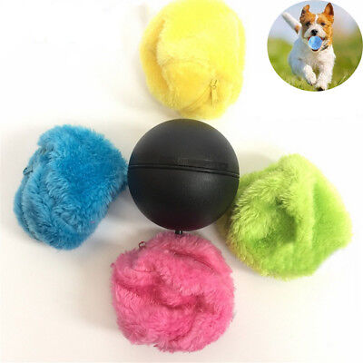 Home Electric Floor Activation Ball Carpet Cleaning Robot Pets Chew Plush Toy IW