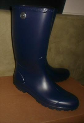 fbf29308a287 UGG WOMEN S NAVY Shelby Matte Tall Rainboots Us Boot Size 11 New In ...