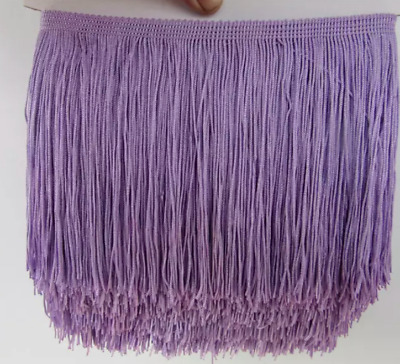 Mauve 15cm Braid Trim Tassel Fringe Lace Price per 30cm DIY Craft Clothing Decor