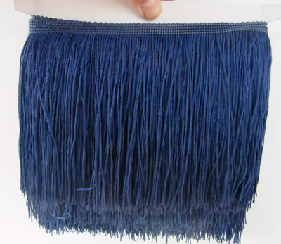 Navy Blue 15cm Braid Trim Tassel Fringe Lace Price per 30cm DIY Craft Clothing