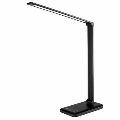 Touch Control LED Desk Lamp + Dimmable + USB Charging Port + Foldable