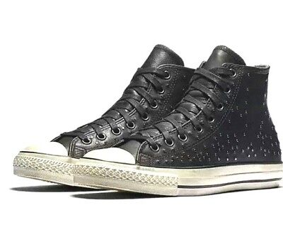 433a3b9bedfbaf ... italy converse x by john varvatos studded leather hi top chuck taylor  shoes size 11 d2b1a
