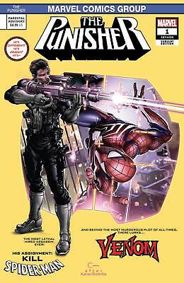 Marvel Punisher #1 Variant Cover A by Clayton Crain CK Elite Limited to 3000