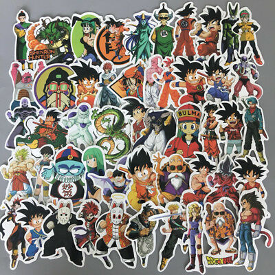 50Pcs Anime Dragon Ball Z Super Saiyan Goku Sticker Decals For Skateboard Laptop