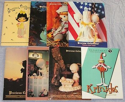 """Enesco 7-Precious Collectibles Books 1990-1991,1-Krinkles Book""""2005"""" 8 Total!"""