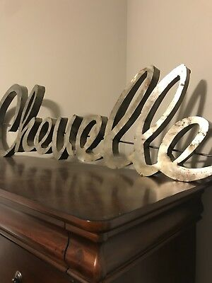 Chevelle logo Metal Man Cave/Garage Wall Art