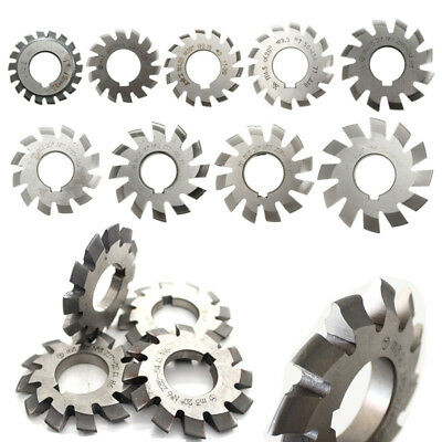 1~8pcs HSS #1-8 M0.5-M10 20degree Diameter 22mm Involute Gear Cutters Module UK
