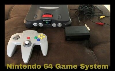 Nintendo 64 Launch Edition Charcoal Grey Console (PAL) With Controller And Cable