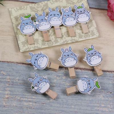 Lovely Cute Wooden Mini Small Clip Photo Paper Postcard Craft Clips with Rope