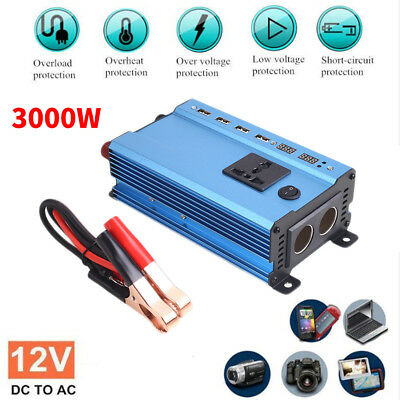 Solar Power Inverter 3000 Watt 12V DC To 220V AC Modified Sine Wave Converter
