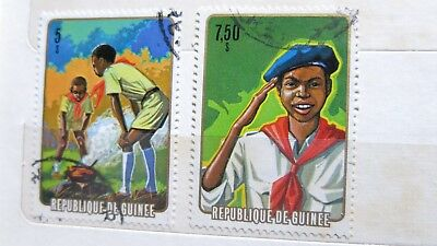 1974 Republic of Guinea Scouts Movement  2 Stamps H