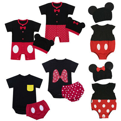 Newborn Baby Boys Girls Minnie Mouse Romper Mickey Clothes Outfit Jumpsuit Cute