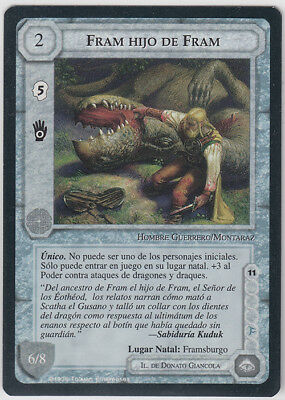 MECCG - Middle Earth ccg - METD - Lord of the Rings - Fram Hijo De Fram - NMINT