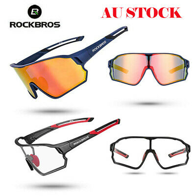 ROCKBROS Bicycle Polarized Glasses Sport Photochromic Goggles Bike Sunglasses AU