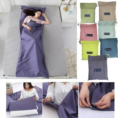 Single Silk Sleeping Bag Camping Hostel Liner Travel Backpacker Inlet Sack Sheet