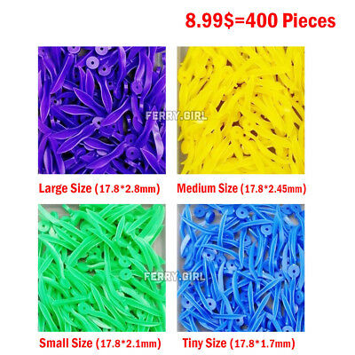 400PCS Dental Plastic Poly-Wedges with Holes Round Stern 4Size wave shape Wedges