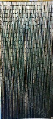 NATURAL BLACK BAMBOO CURTAIN BLINDS DOOR FLY SCREEN ROOM DIVIDER 90 Strands