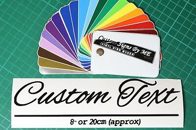 2x Personalised Custom Name Text Sticker Vinyl Decal Adhesive 8'' or 20cm long