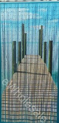 BRIDGE PIER BAMBOO CURTAIN BLINDS DOOR FLY SCREEN ROOM DIVIDER 90 Strands