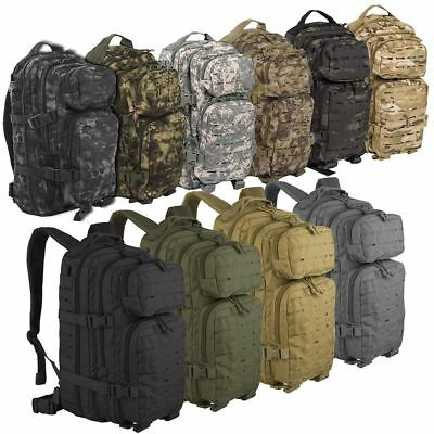 41d7a453b24 Mil-Tec Us Assault Molle Day Pack Small Backpack Military Rucksack Laser  Cut Bag